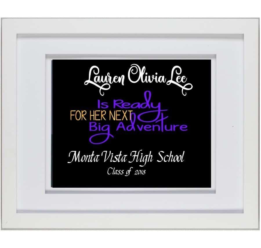 Personalized Graduation Plaque