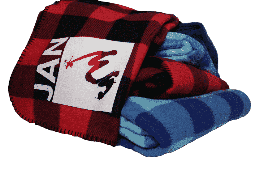 Personalized (Branded and Unbranded) Buffalo Plaid Blanket