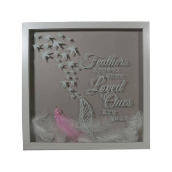 Memorial Feathers Framed (lit/unlit)