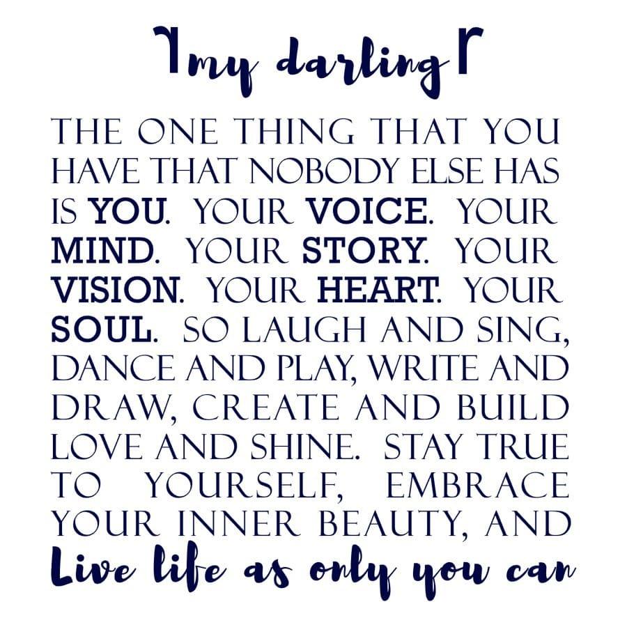 My Darling (Text) design
