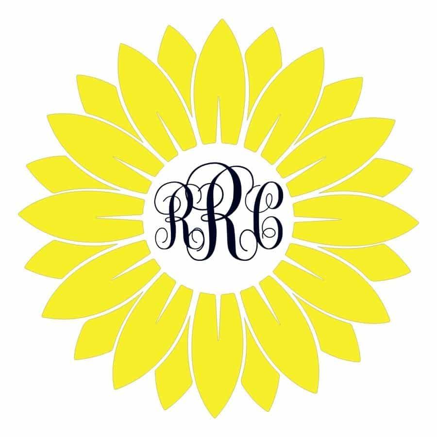 Sunflower Monogram design