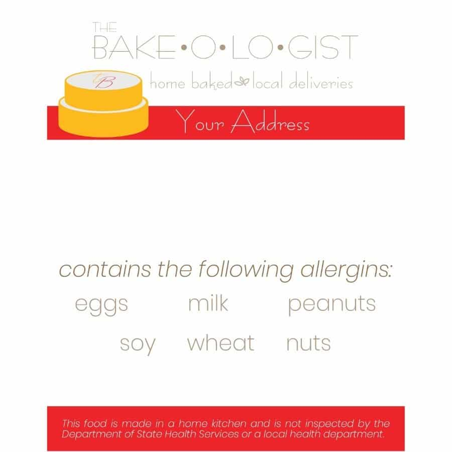 Bake-O-Lo-Gist Ingredient Label-custom branding