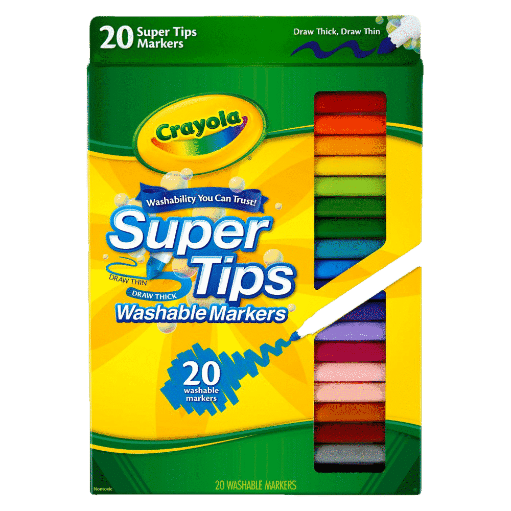 washable color markers example